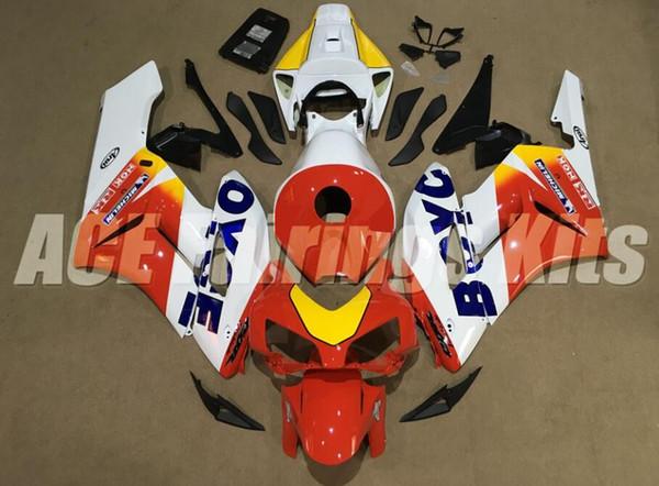 4Regalos Nuevos moldes de inyección de ABS Kits de carenados de motocicleta 100% aptos para Honda CBR1000RR 04 05 2004 2005 juego de carrocería personalizado rojo amarillo blanco
