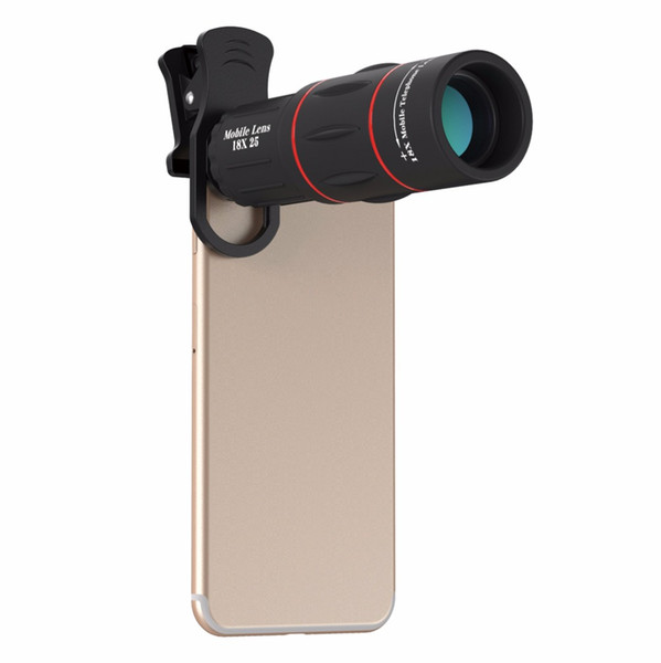 18X Telescope Zoom Mobile Phone Lens for iPhone Samsung Smartphones universal clip Telefon Camera Lens with tripod 18XTZJ