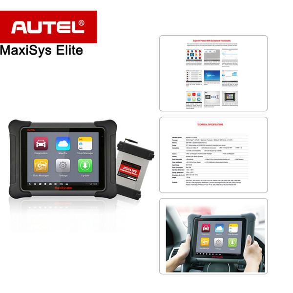 OBDII Elite MaxiSys Autel outil de diagnostic rapide avec la programmation ECU avancée