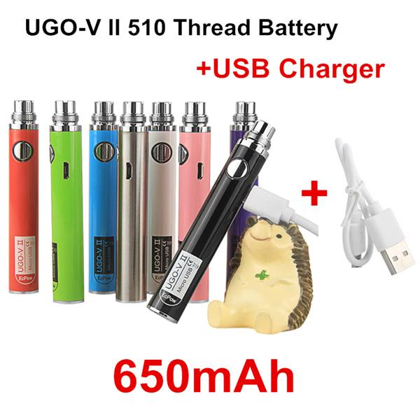 Authentic UGO V II 650mAh + USB Charger