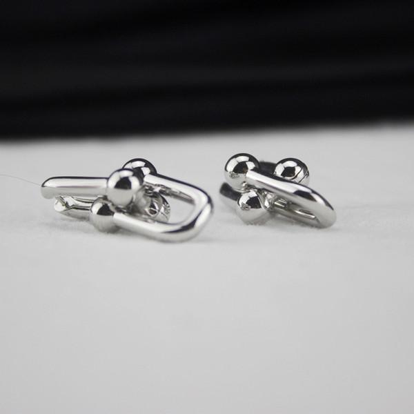 14 k Gold Ohrringe für Frauen U Form Designer Schmuck Luxus Platin Stud Quaste Ohrringe
