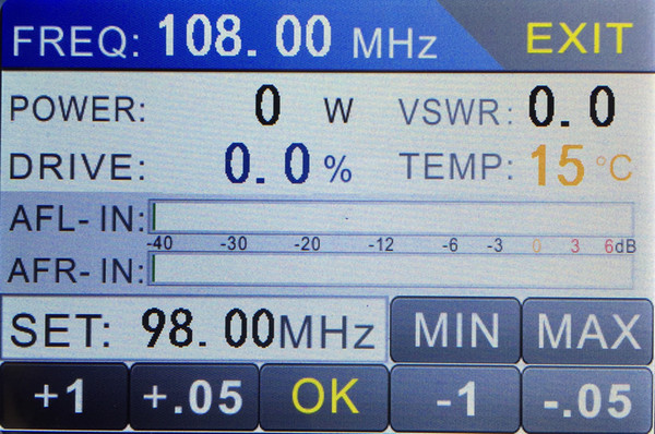 best selling Touch LCD FMT3-1000H 1KW 1000W 87.5-108MHz FM broadcast transmitter
