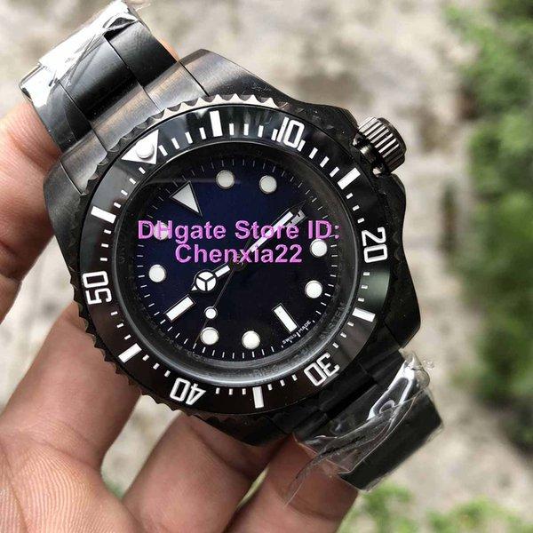 Роскошные часы класса качества керамическая рамка синий циферблат 44 мм из нержавеющей стали 2813 автоматические мужские бизнес случайные роскошные часы оригинальная застежка