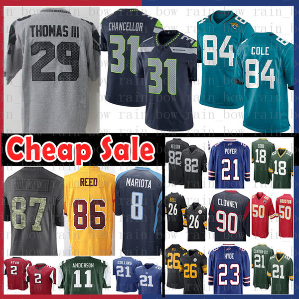 779f7297f Jacksonville 84 Keelan Cole Jaguar Seattle Seahawks 29 Earl Thomas 31 Kam  Chancellor Jersey 86 Reed Redskins nEW 87 Rob Gronkowski Patriots