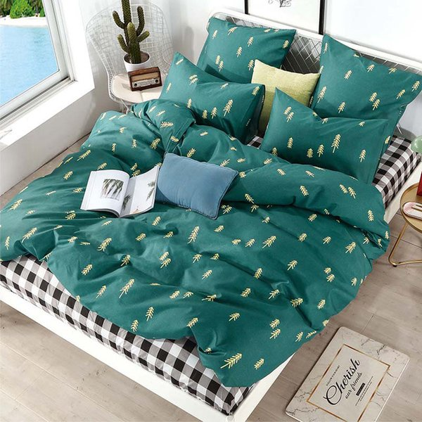 Printed Solid bedding sets Home Bedding Set 4-7pcs High Quality Lovely Pattern with Star tree flower
