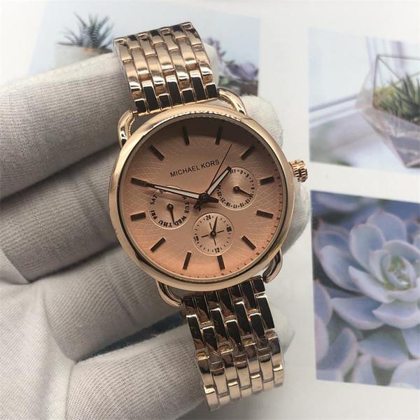 844fe52f5959 Роскошный бренд M k набор Damenuhr Parker Edelstahl хронограф Aaa женская  мода алмазные золотые часы 5905