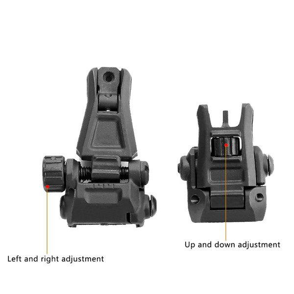1 pair 45 Degree Adjustable 20mm Tactical Hunting Flip Up Front Rear Rapid Transition Backup Iron Sight Set