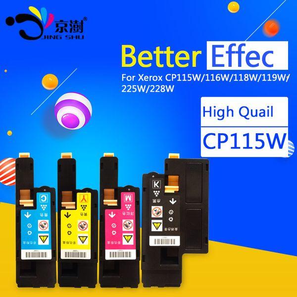 4 adet = 1 takım CP115W Toner Kartuşu Fuji Xerox için Uyumlu CM115w CM115 CM225w CM225 CP115w CP115 CP116w CP225W CP225 yazıcı