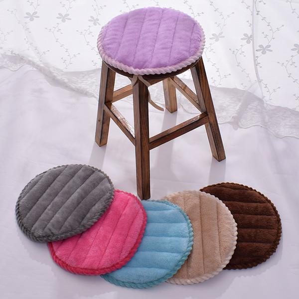 4 Season Round Chair Decor Seat Pad Bar Chair Cushion Flannel Seat Pad Set Anti-slip Cushion Comfortable Floor Sitting