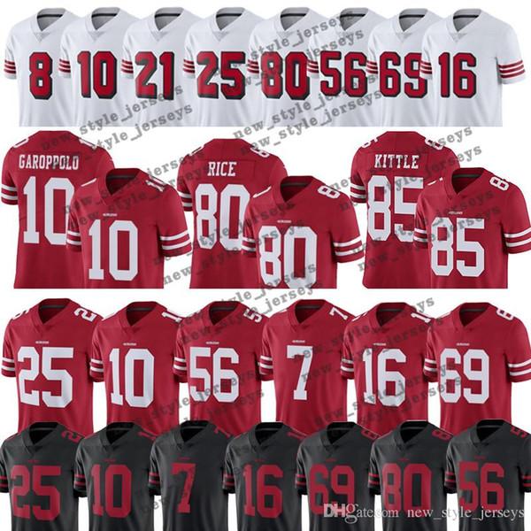 big sale b31f9 3c1eb 2019 97 Nick Bosa 85 George Kittle 49ers Jersey 80 Jerry Rice 25 Richard  Sherman 10 Jimmy Garoppolo 16 Joe Montana Reuben Foster Jersey From ...