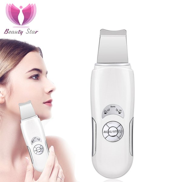 assage machine Beauty Star Ultrasonic Face cleaning Skin Scrubber Facial Massage Machine Anion Skin Deeply Cleaning Peeling Face Lift Scr...