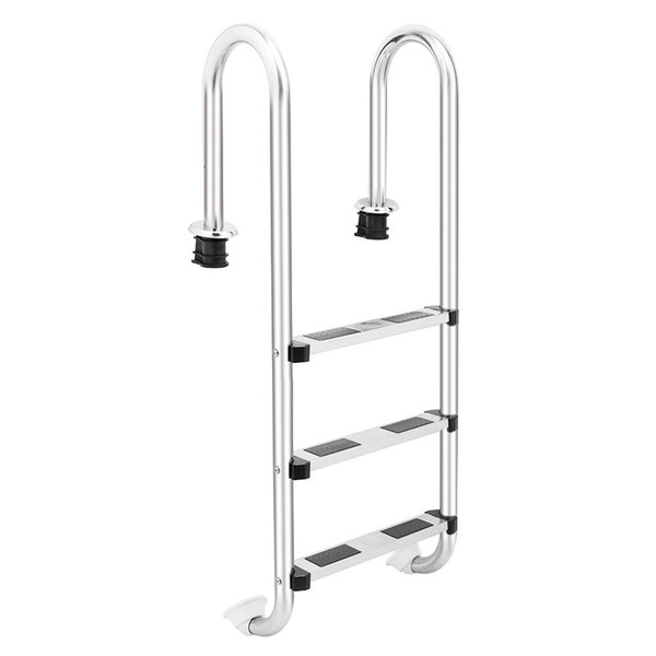 3-Step Swimming Pool Ladder Stainless Steel 3 Step In-Ground Swimming Pool Equipment Ladder Anti Skid US Stock