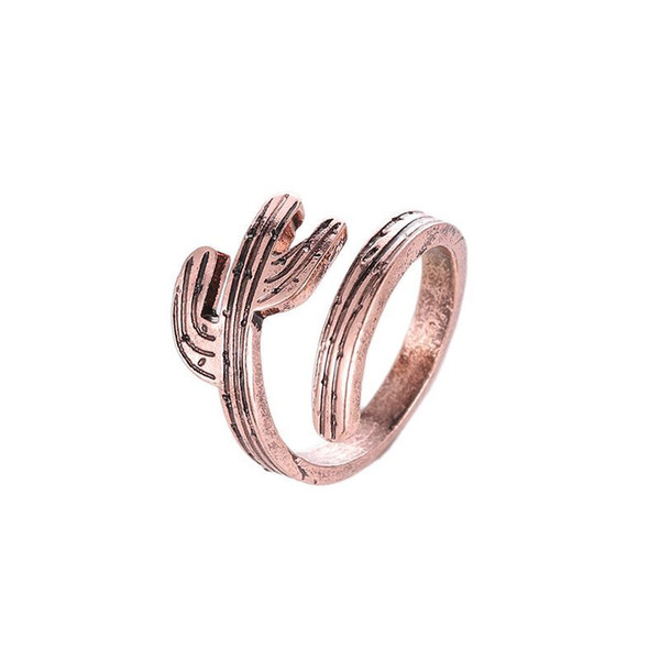top popular Newest Adjustable Cactus Rings Drop shipping Retro opening woman rings silver  copper party rings jewelry accessories 2020