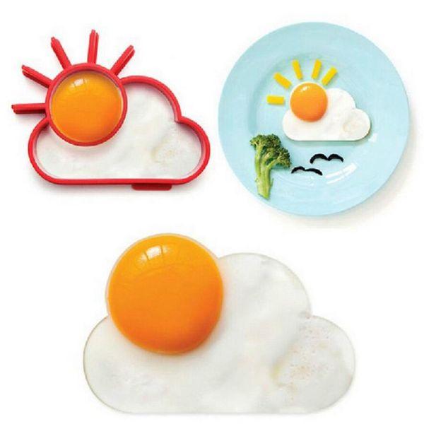 1 STÜCK Frühstück Werkzeug Silikon Spiegelei Mold Red Pancake Ringe Ei Formen Sun Cloud Silikon Shaper Silikon Form für Ei