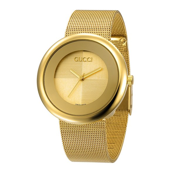 Top luxury brand rose gold quartz watch 36mm, men's leisure Japanese quartz watch stainless steel mesh with ultra-thin clock lady