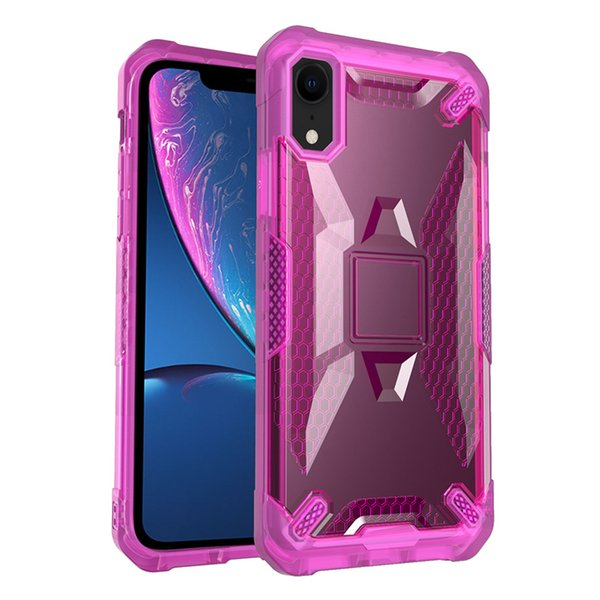 Robot PC Case for iPhone X 6 7 8 Samsung S9 S9 Plus Protective Shell TPU Shockproof Defender Cover Case Wholesale