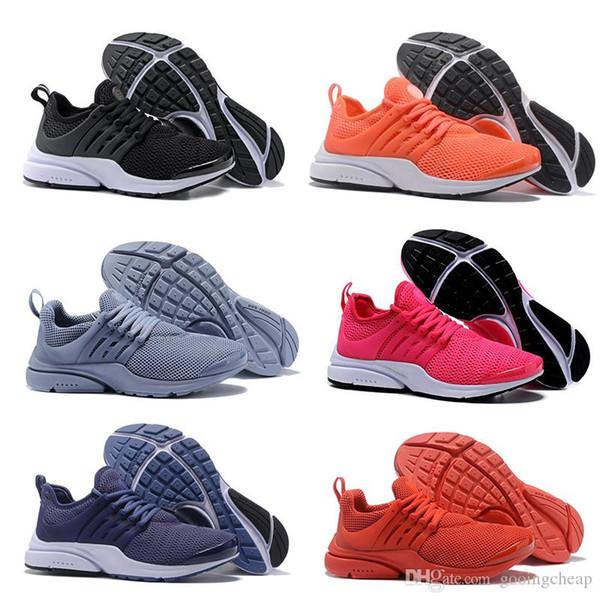 2019 PRESTO 5 BR QS Siyah Beyaz Sarı Kırmızı Nefes Erkek kadın Sneakers Sıcak Erkek Ayakkabı Yürüyüş tasarımcı