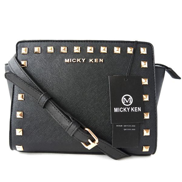 Микки кен высокое качество искусственная кожа женщины Crossbody сумки мода заклепки дизайн женские сумки на ремне цвет плечевой ремень женские сумки