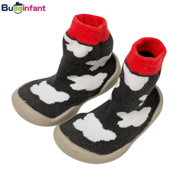 Bambini Neonato interne anti calzini di slittamento dei pattini caldi di inverno calzino con gomma delle suole dei neonati più piccoli Walking Socks Terry