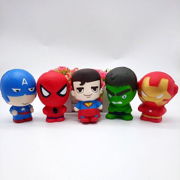 Compre 11 Cm Squishy Homem Aranha Ascendente Lento Vingadores Dos Desenhos Animados Marvel Heros Capitão América Charme The Hulk Brinquedos Superhero