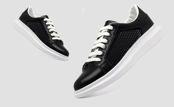 Männer Sommer und Herbst Mode Freizeitschuhe Atmungsaktive weiße Schuhe mit Loch Freizeit Wohnungen Schuhe
