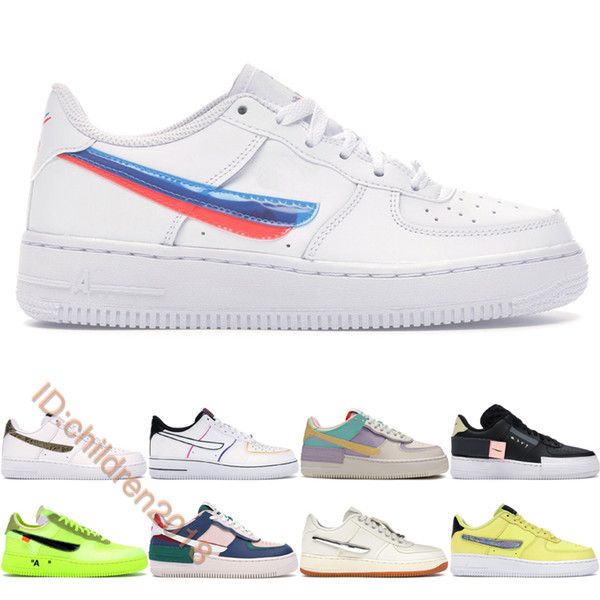 best selling Top Force One Casual Shoes For Men Women Brand Skateboard Shoes 3D Glasses Volt Shadow Mystic Navy Type Summit White Trainers Size 36-45