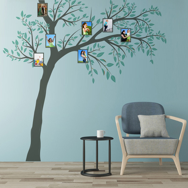 New 3D DIY Family Tree Photo Frame Large Wall Sticker 260*270cm Home Decor Living Room Poster Self-adhesive PVC Leaves Art Mural