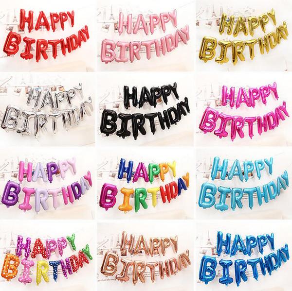 16 pulgadas feliz cumpleaños globo aire letras globos decoración niños juguete boda fiesta cumpleaños helio fiesta baloon