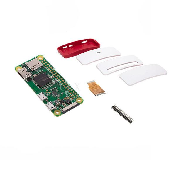 Freeshipping Raspberry Pi Zero W Starter Kit Pi Zero W Board + Official Case + 40 pin Header for Pi 0 W