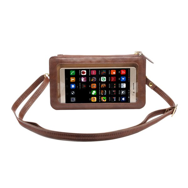 NEW Leather Case Touch Screen + Small Shoulder Crossbody Pouch + Wallet Bag for Samsung Galaxy Note 5 4 3 2 7 Cell Phone Bag