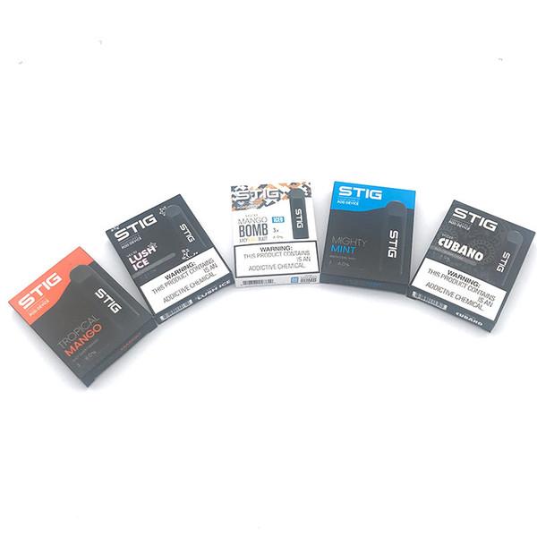 Il kit di penna Vape monouso Vgod Stig Bomb più caldo Kit 270 mAh con batteria completamente carica con capacità di 1,2 ml Kit di E-Cig monouso