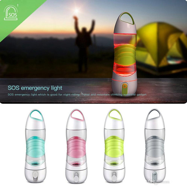 best selling Portable LED Light Smart Water Bottles Tracks Water Intake Glows to Remind Drinking Night Lamp Emergency Sport Water Replenishing Cups