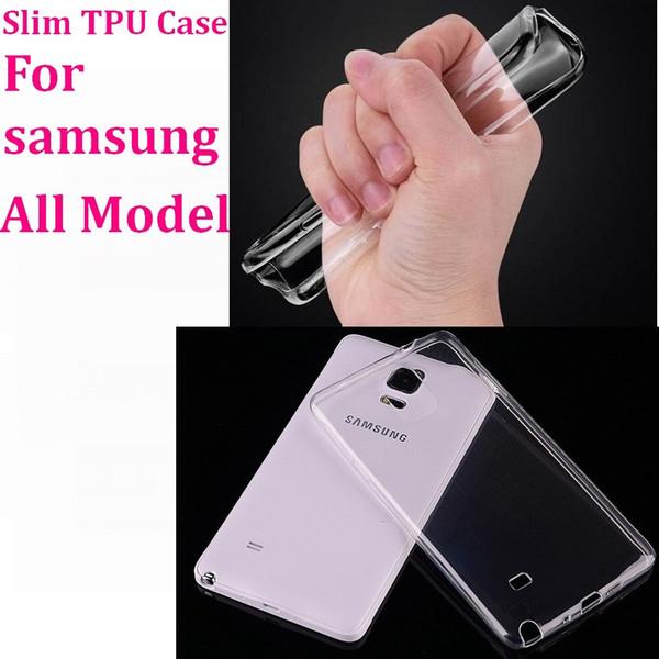 200 UNIDS / LOTE Gel Suave, Transparente, Transparente, Delgado Funda de TPU para Samsung Galaxy S9 S8 S7 S6 SGE EDGE Plus S5 NOTA 8 7 5 4