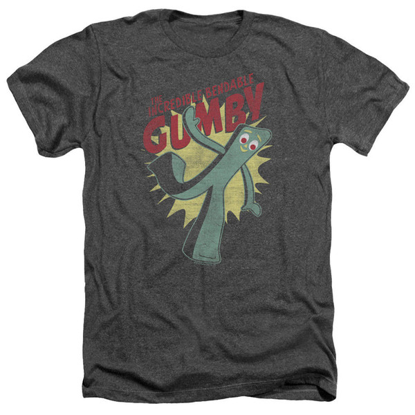 Gumby BENDABLE Licensed Adult Heather T-Shirt All Sizes