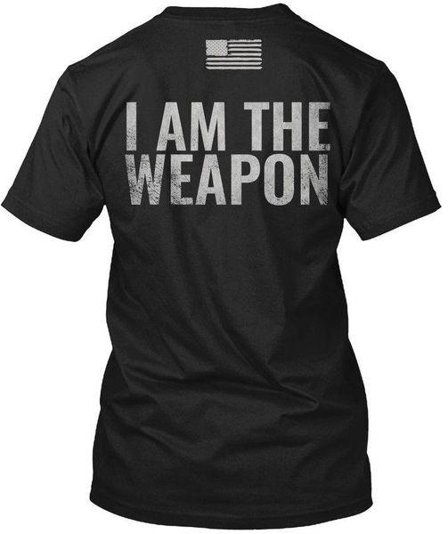 Рубашка «Я - оружие» - Штурмовая винтовка AR15 - Футболка без метки Hanes