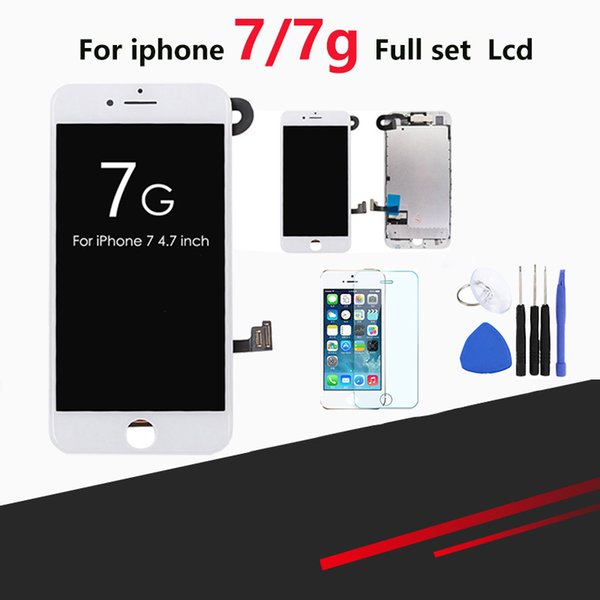 1pcs LCD For iPhone 7/ 7G Display Full Set Digitizer Assembly 3D Touch Screen Replacement + Front camera + Earphone Speaker