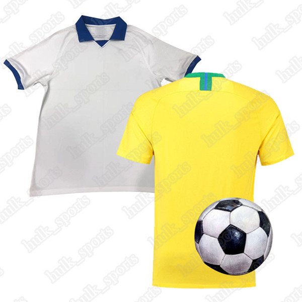 camisetas de fútbol de la Copa América Brasil Brasil Jersey JESÚS COUTINHO FIRMINO MARCELO kit de fútbol camisa de la camiseta de fútbol G.JESUS