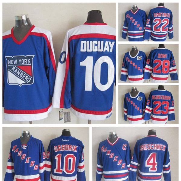 size 40 27504 1c9a0 2019 100% Embroidery Vintage #10 Ron Duguay Jerseys Men'S ...