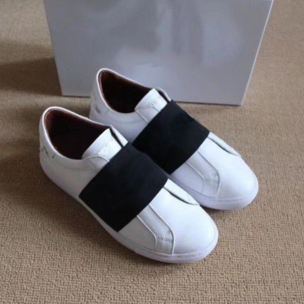 Moda lüks erkek ayakkabı bayan ayakkabıları ucuz rahat ayakkabılar elastik çizgili en kaliteli tasarımcı marka ayakkabı kutusu