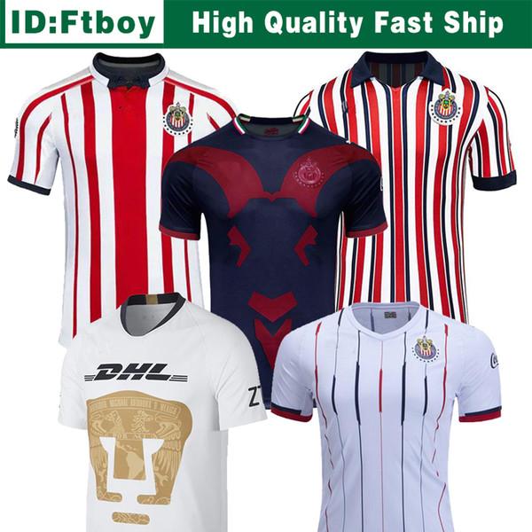 Chivas de Guadalajara terceiro Jersey 2018 2019 Japão copa do mundo de futebol Jerseys New chegou Long Sleeve Kit MÉXICO Clube A.PULIDO camisas de futebol