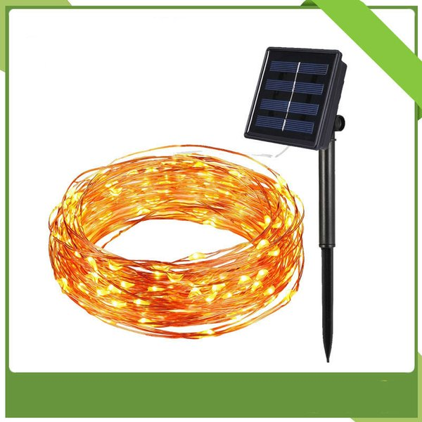 Hot-selling 10 m 100 light solar copper wire lamp string courtyard waterproof lamp string Festival waterproof lamp string