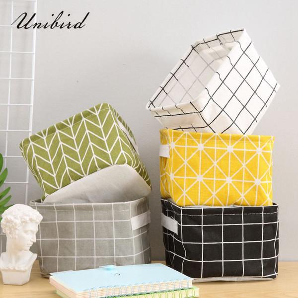wholesale 1Pc Home Office Desktop Basket Waterproof Cotton Storage Bag for Sundries Stationery Toys Socks Underwear Organizer