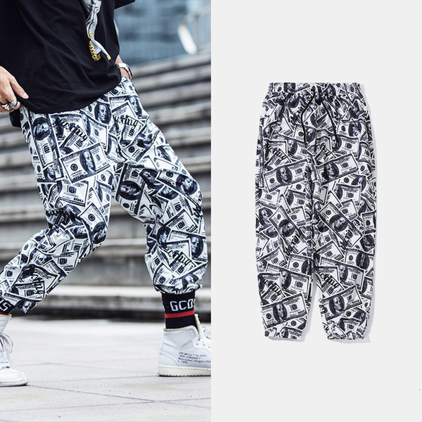 Hommes Pantalon De Jogging Casual Nouveaux Dollars De Mode Imprimé 3D Monnaie En Papier Unisexe Longue Pantalon Pantalon De Jogging Confortable