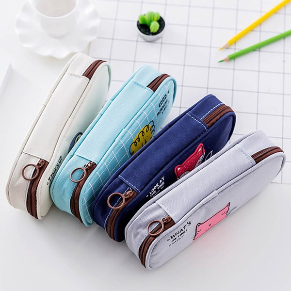 2018 New Cotton Animal Pattern Women Cosmetic Toiletry Bag Clutch Handbags Makeup Bag For Travel Trip Carry-on Companion Zipper