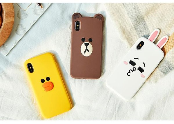 Cute 3D Cartoon Phone Case for iPhone 5 5s SE 6 6s 7 8 Plus X XR XS Max Soft Silicone Rubber Back Cover Fundas Coque Capa