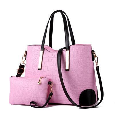 crocodile pattern big bag sale European and American fashion tide ladies shoulder bag mother bag two-piece