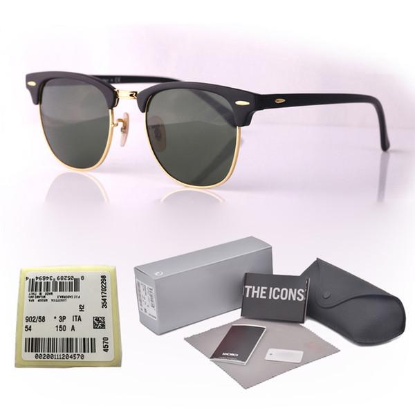 Высокое качество бренда дизайнер солнцезащитные очки мужчины женщины планка рама металлический шарнир зеркальные стекла линзы кошачий глаз солнцезащитные очки с розничной коробке и этикетке