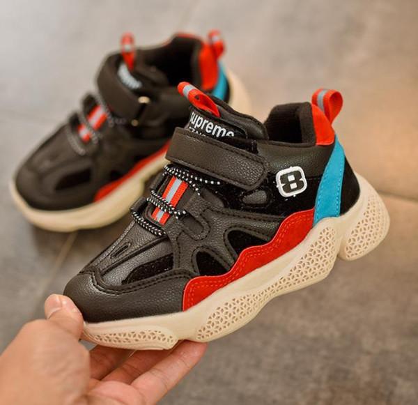 Mejores ventas de zapatos para niños Chicos Chicas Moda Deportes Calzado casual Niños Zapatillas de deporte transpirables Zapatos para niños pequeños