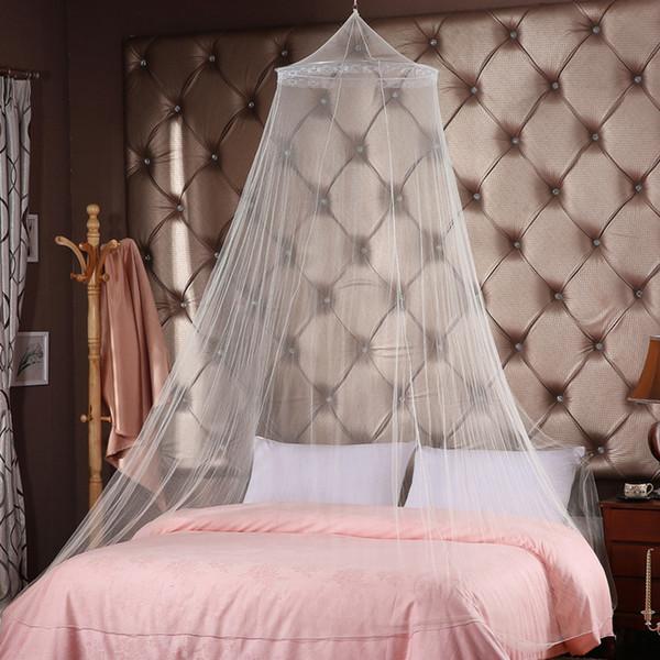 Dossel Mosquito Net Elegante Circular Cama Dupla Mosquito Repelente Tenda Rejeitar Cama Canopy Cortina Tenda Casa Ao Ar Livre