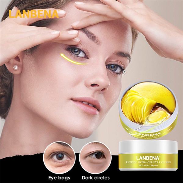 top popular LANBENA Eye Mask Collagen Eye Patch Skin Care Moisturizing Retinol Remove Dark Circles Eye Skin Care 2021